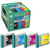 エコリカ【互換】[ブラザー:LC10-4PK(4色パック)対応] リサイクルインクカートリッジ ECI-BR104P/BOX [ECIBR104PBOX]