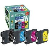 エコリカ 【互換】[ブラザー:LC11-4PK(4色セット)対応] リサイクルインクカートリッジ ECI-BR114P/BOX