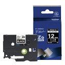 ブラザー ピータッチ(P-touch) ラミネートテープ (黒テープ/白文字/12mm幅) TZe-335[TZE335]
