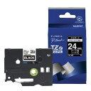 ブラザー brother ピータッチ(P-touch) ラミネートテープ (黒テープ/白文字/24mm幅) TZe-355[TZE355]
