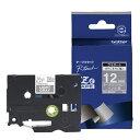 ブラザー ピータッチ(P-touch) おしゃれテープ (ライトグレー/白文字/12mm幅) TZe-MQL35[TZEMQL35]