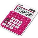 カシオ カラフル電卓 「ビター&ミルキー」(10桁) MW-C11A-RD-N(ルージュピンク)