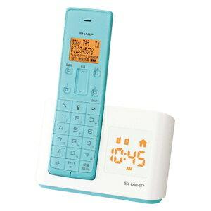 シャープ デジタル コードレス インテリア ターコイズブルー