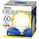 東芝 LED電球 (ボール電球形・全光束730lm/電球色相当・口金E26) LDG9L-H/60W[LDG9LH60W]