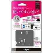 ナカバヤシ 59+8メディア対応 USB3.0マルチカードリーダー/ライター(ブラック) CRW-38M56BK[CRW38M56BK]