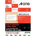 エーワン パソコンプリンタ&ワープロラベル Canonキヤノワードシリーズタイプ (A4・10面×20シート) 28177