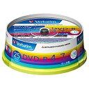 三菱化学メディア 1〜16倍速対応 データ用DVD-Rメディア (4.7GB・25枚) DHR47JP25V1