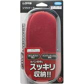 ロアス PSP用ソフトケース レッド【PSP-1000/2000/3000】