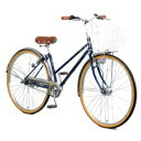 【送料無料】 アサヒサイクル 27型 自転車 ラ・ベール(ブルー/内装3段変速) YT7QLF【組立商品につき返品不可】 【代金引換配送不可】【メーカー直送・代金引換不可・時間指定・返品不可】