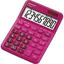 シャープ カラー・デザイン電卓 「ミニナイスサイズタイプ」(10桁) EL-M334-RX(レッド系)[ELM334RX]
