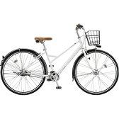 【送料無料】 ブリヂストン 27型 自転車 ビレッタ コンフォート(P.スターリングホワイト)VN78BT【8段変速】 【代金引換配送不可】