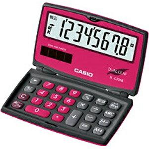 カシオ カラフル電卓 「ビター&ミルキー」(8桁) SL-C100B-BR-N(ベリーピンク)[SLC100BBRN]