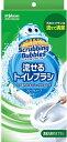 ジョンソン Johnson スクラビングバブル シャット流せるトイレブラシ ハンドル1本+ブラシ4コ〔トイレ用洗剤〕