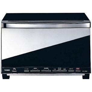 ミラーガラスオーブントースター ブラック