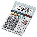 シャープ SHARP ミニナイスサイズ電卓 (12桁) EL-M712K-X[ELM712KX]