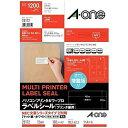 エーワン パソコンプリンタ&ワープロラベル NEC文豪シリーズタイプ2列用 (A4サイズ・12面・100枚) 28172