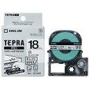キングジム テプラ(TEPRA) キレイにはがせるラベルテープ「テプラ(TEPRA)PRO」(白テープ/黒文字/18mm幅) SS18KE
