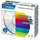 【あす楽対象】 三菱化学メディア 2〜4倍速対応 データ用DVD-RWメディア (4.7GB・10枚) DHW47Y10V1