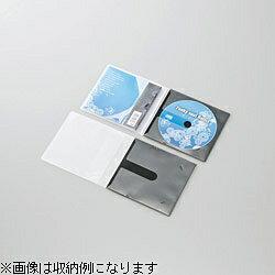 エレコム CD/DVD用スリム収納ソフトケース (1枚収納×10セット・ブラック) CCD-DPC10BK[CCDDPC10BK]