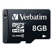 三菱化学メディア 8GB・Class4対応microSDHCカード(SD変換アダプタ無し・防水仕様)MHCN8GYVZ1