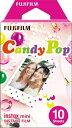 フジフイルム チェキ インスタントカラーフィルム instax mini 絵柄入りフレーム 「キャンディポップ」 1パック(10枚入)