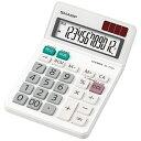 シャープ SHARP ミニナイスサイズタイプ電卓 (12桁) EL-772J-X[EL772JX]