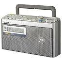 【送料無料】 パナソニック Panasonic RF-U350 FM/AM 防災ラジオ(FM緊急警報放送対応/シルバー) RF-U350[RFU350] panasonic