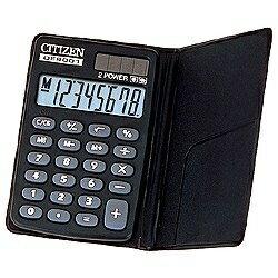 シチズンシステムズ 手帳型電卓 (8桁) DE8001Q[DE8001Q]