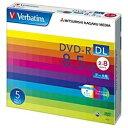 三菱化学メディア 2〜8倍速対応 データ用DVD-R DLメディア (8.5GB・5枚) DHR85HP5V1