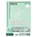 ナカバヤシ Nakabayashi コピー&プリンタ用紙(中厚口A3・100枚/グリーン) HCP-3101-G