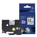 ブラザー ピータッチ(P-touch) マットテープ (透明(つや消し)テープ/黒文字/12mm幅) TZe-M31[TZEM31]