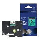 ブラザー ピータッチ(P-touch) ラミネートテープ (緑テープ/黒文字/12mm幅) TZe-731[TZE731]