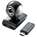 サンワサプライ ワイヤレスWEBカメラ[USB・30万画素] マイク内蔵・三脚付属 CMS-V36BK[CMSV36BK]