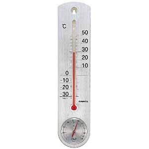 エンペックス 温湿度計 「くらしのメモリー」 TG-6717(シルバー)[TG6717]