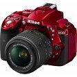 【送料無料】 ニコン D5300【18-55 VR II レンズキット】(レッド/デジタル一眼レフカメラ)[D5300LK1855VR2RD]