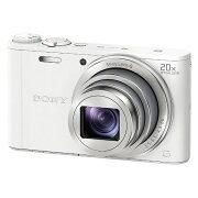 【送料無料】 ソニー SONY コンパクトデジタルカメラ Cyber-shot(サイバーショット) DSC-WX350(ホワイト)[DSCWX350WC]