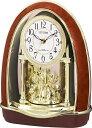 リズム時計 RHYTHM 置き時計 【パルドリームR414】 茶色木目 4RN414-023 [電波自動受信機能有][4RN414023]