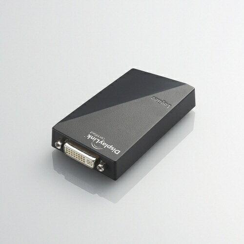 【送料無料】 ロジテック Logitec [USB-A オス→メス DVI + VGAアダプタ]2.0変換アダプタ ブラック LDE-WX015U[LDEWX015U]