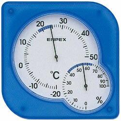 エンペックス 温湿度計 「シュクレミディ」 TM-5606(クリアブルー)[TM5606]