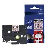 ブラザーラベルライター用キャラクターテープ 12mm幅(スヌーピーピンク) TZe-UP31