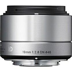 【送料無料】 シグマ 交換レンズ 19mm F2.8 DN【マイクロフォーサーズマウント】(シルバー)