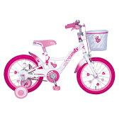 【送料無料】 タマコシ 16型 幼児用自転車 ハードキャンディキッズ16(ピンク/シングルシフト) 【代金引換配送不可】