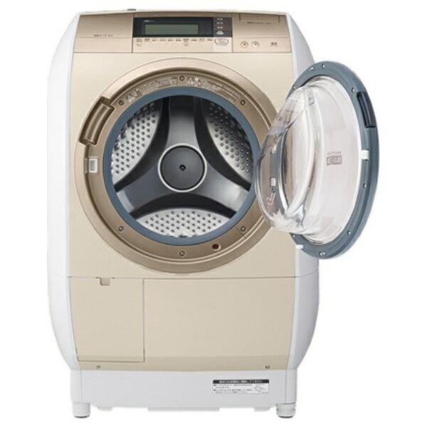 【標準設置費込み】 日立 [右開き] ドラム式洗濯乾燥機 「ヒートリサイクル 風アイロン ビッグドラム」(洗濯10.0kg/乾燥6.0kg) BD-V9700R-N シャンパン 【洗濯槽自動お掃除・ヒーター乾燥機能付】