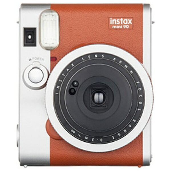 【送料無料】 富士フイルム FUJIFILM インスタントカメラ instax mini 90 『チェキ』 ネオクラシック ブラウン[INSTAXMINI90BROWN]