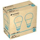 【あす楽対象】 三菱化学メディア LED電球 「Verbatim」(一般電球形・全光束485lm/昼光色相当・口金E26/2個入) LDA7D-G/V2X2 【ビックカメラグループオリジナル】201611P