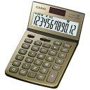 カシオ デザイン電卓 (12桁) JF-Z200GDN(ゴールド)[JFZ200GDN]