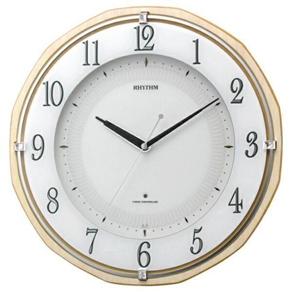【送料無料】 リズム時計 電波掛け時計 「リバライトRW496」 8MY496SR06 【メーカー直送品・代金引換配送不可・時間指定不可】