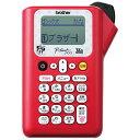 ブラザー ラベルライター 「ピータッチ(P-touch)」(テープ幅:12mmまで) PT-J100MR(ミニーレッド)[PTJ100MR]