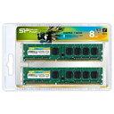 【送料無料】 SILICONPOWER シリコンパワー DDR3 - 1600 240pin DIMM (4GB 2枚組) SP008GBLTU160N22(デスクトップ用) 増設メモリー
