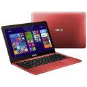 【あす楽対象】【送料無料】 ASUS 11.6型ノートPC Eeebook X205TA X205TA-B-RED (2015年モデル・レッド)[X205TAB...